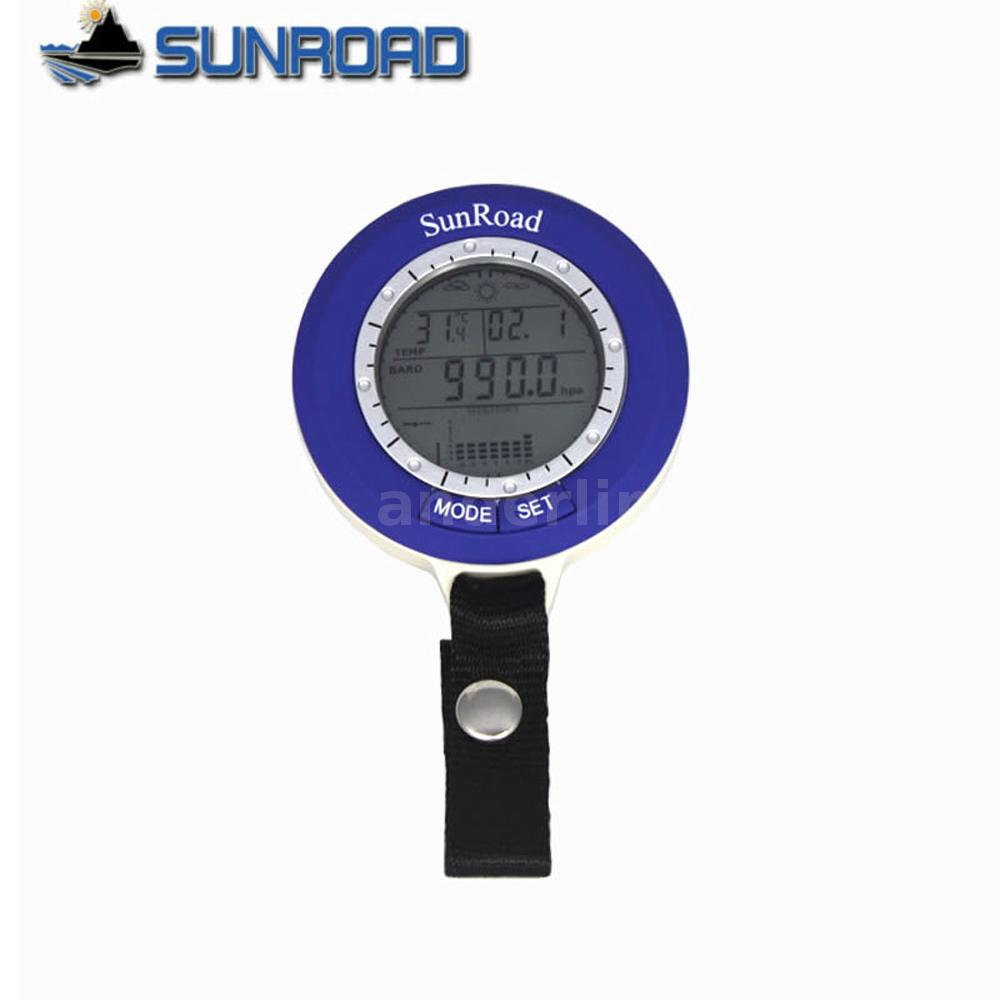 Sunroad lcd digital fishing barometer altimeter for Barometric pressure forecast for fishing