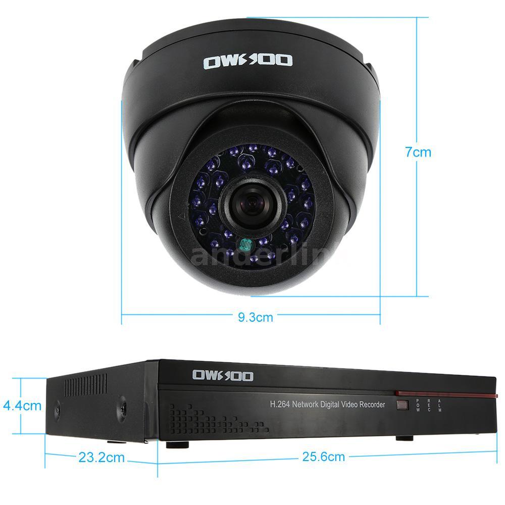 Owsoo 16ch Cif Hdmi P2p Dvr 16 Black Dome Camera Ir Cut