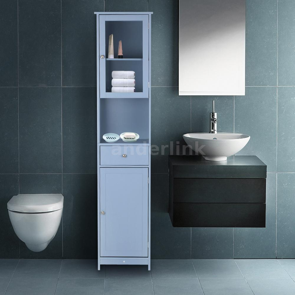 Tower Bathroom Storage Cabinet Tall Organizer Kitchen Pantry ...