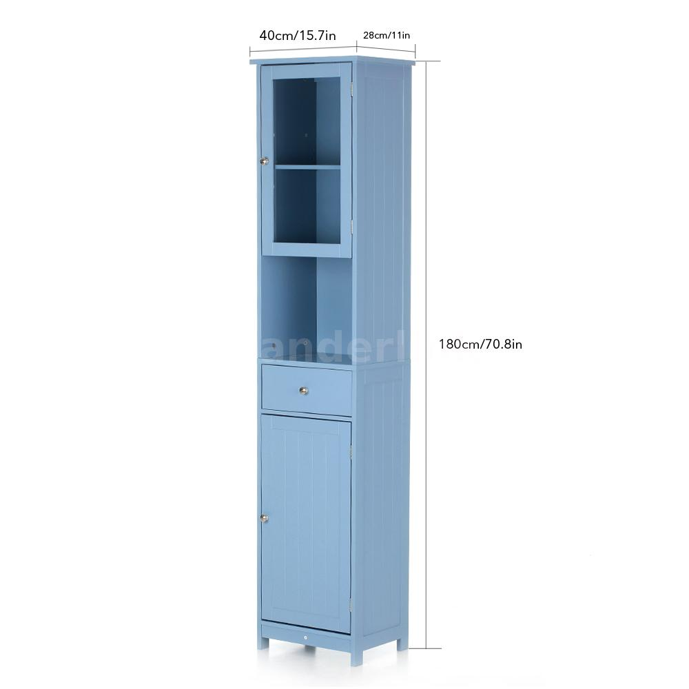 Tower Bathroom Storage Cabinet Tall Organizer Kitchen Pantry ...