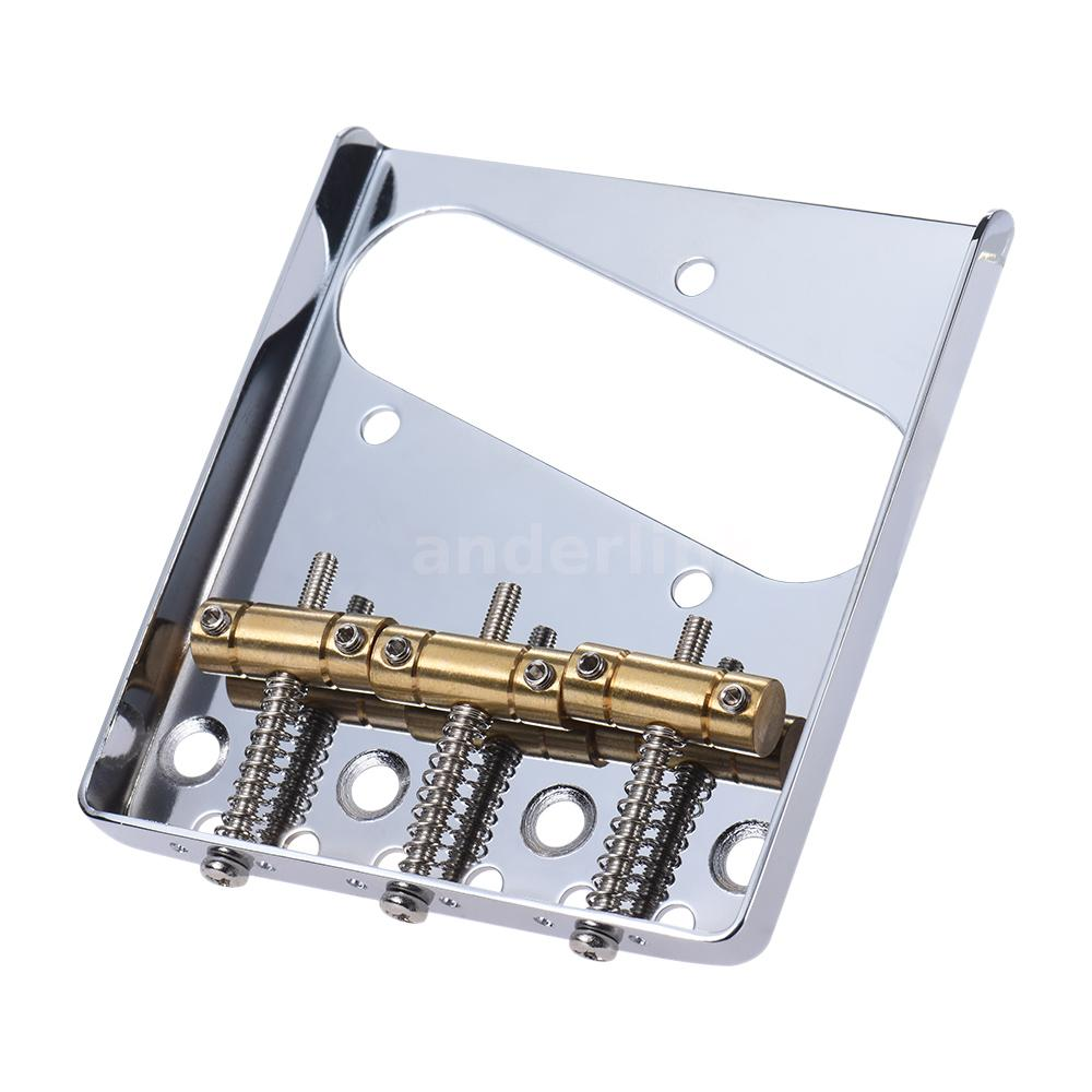 3 copper saddle ashtray bridge tailpiece for tele electric guitar h2s2 ebay. Black Bedroom Furniture Sets. Home Design Ideas