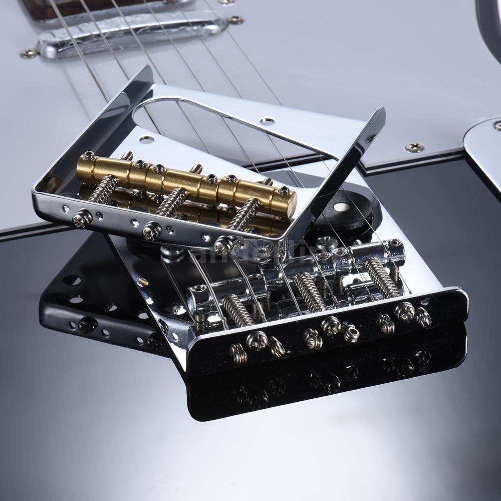 3 copper saddle ashtray bridge tailpiece for tele electric guitar h2s2 ebay. Black Bedroom Furniture Sets. Home Design Ideas