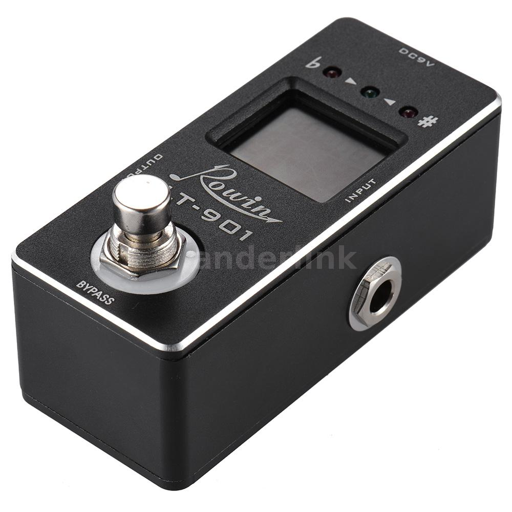 rowin lt 901 chromatic guitar tuner pedal effect true bypass lcd new j9s1 ebay. Black Bedroom Furniture Sets. Home Design Ideas