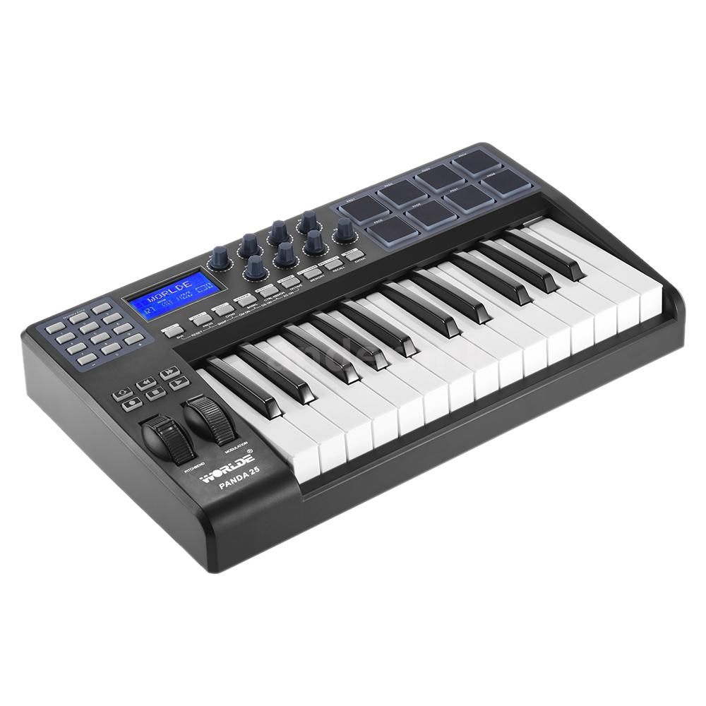 panda25 25 key usb midi keyboard 8 drum pads controller with usb cable n6r0 ebay. Black Bedroom Furniture Sets. Home Design Ideas