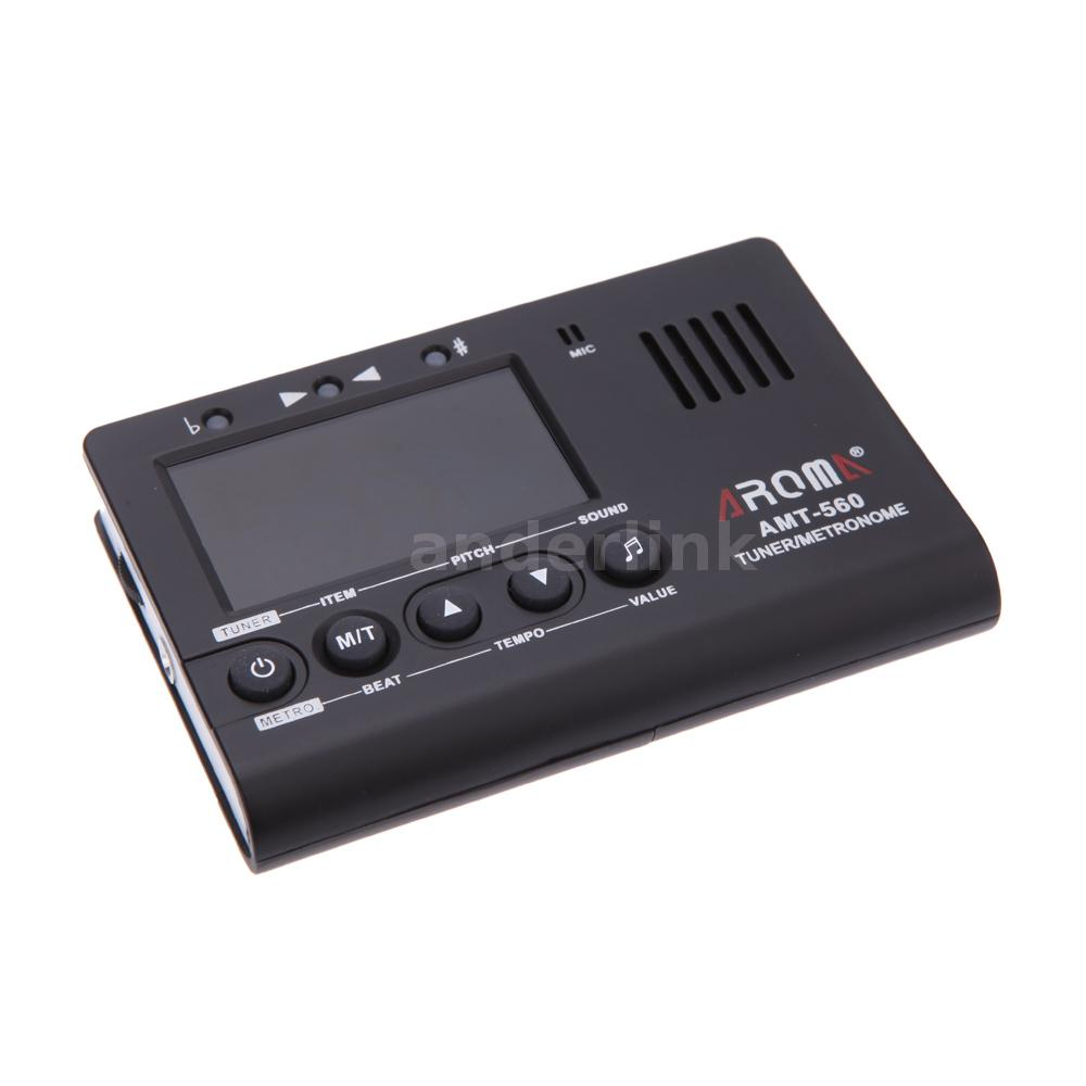 aroma amt 560 electric guitar tuner metronome built in mic with pickup p0k7 ebay. Black Bedroom Furniture Sets. Home Design Ideas