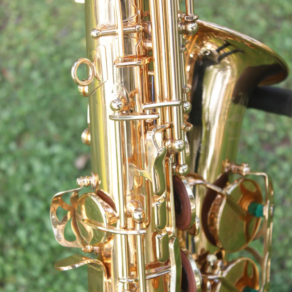 alto saxophone sax brass carved pattern on surface with cleaning kit golden w9a6 ebay. Black Bedroom Furniture Sets. Home Design Ideas