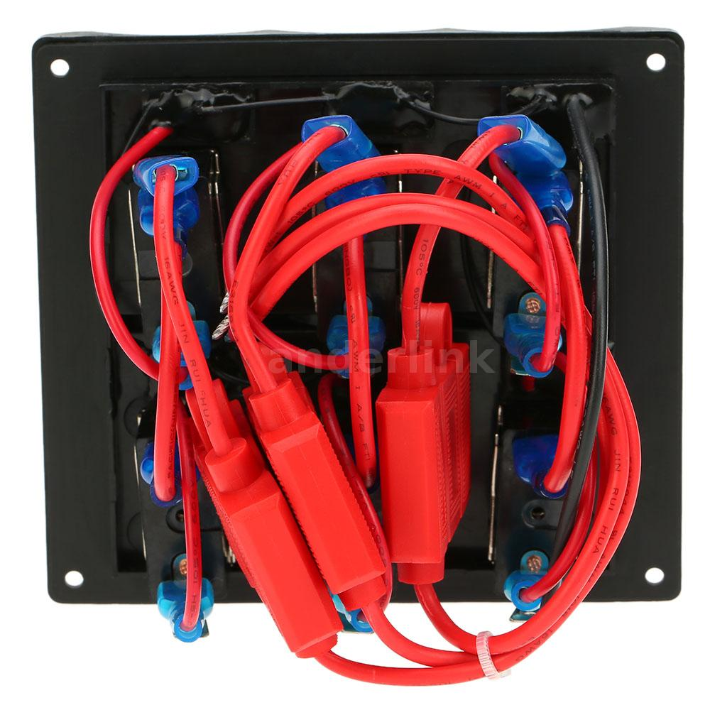Electric Motorcycle Fuse Box Light Wiring Diagrams Relay With 12 24v Diy Car Boat 6 Gang Toggle Switch Panel And