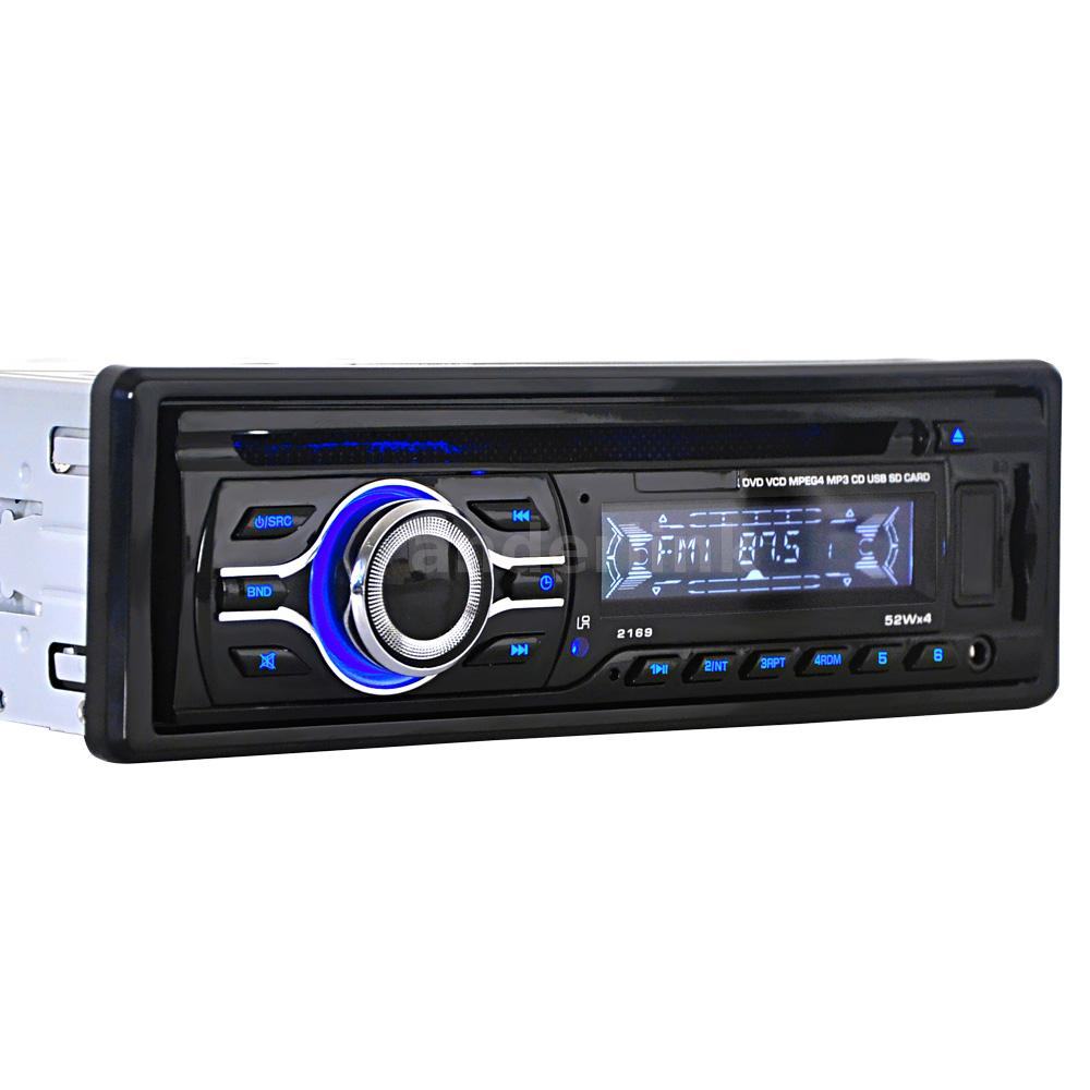 Aux Cd Changer Port Enabling: Universal Car CD DVD VCD MP3 Player Stereo Radio FM Aux