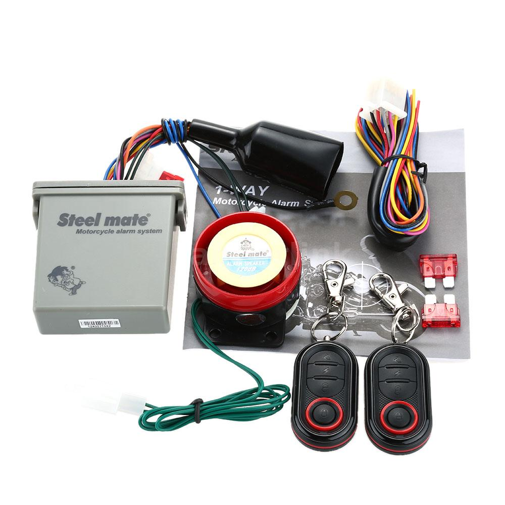Steelmate 1 Way Anti Theft Motorcycle Alarm System Remote Engine Audio Wiring With Mini Transmitter And Water Resistant Function An Ideal For Your
