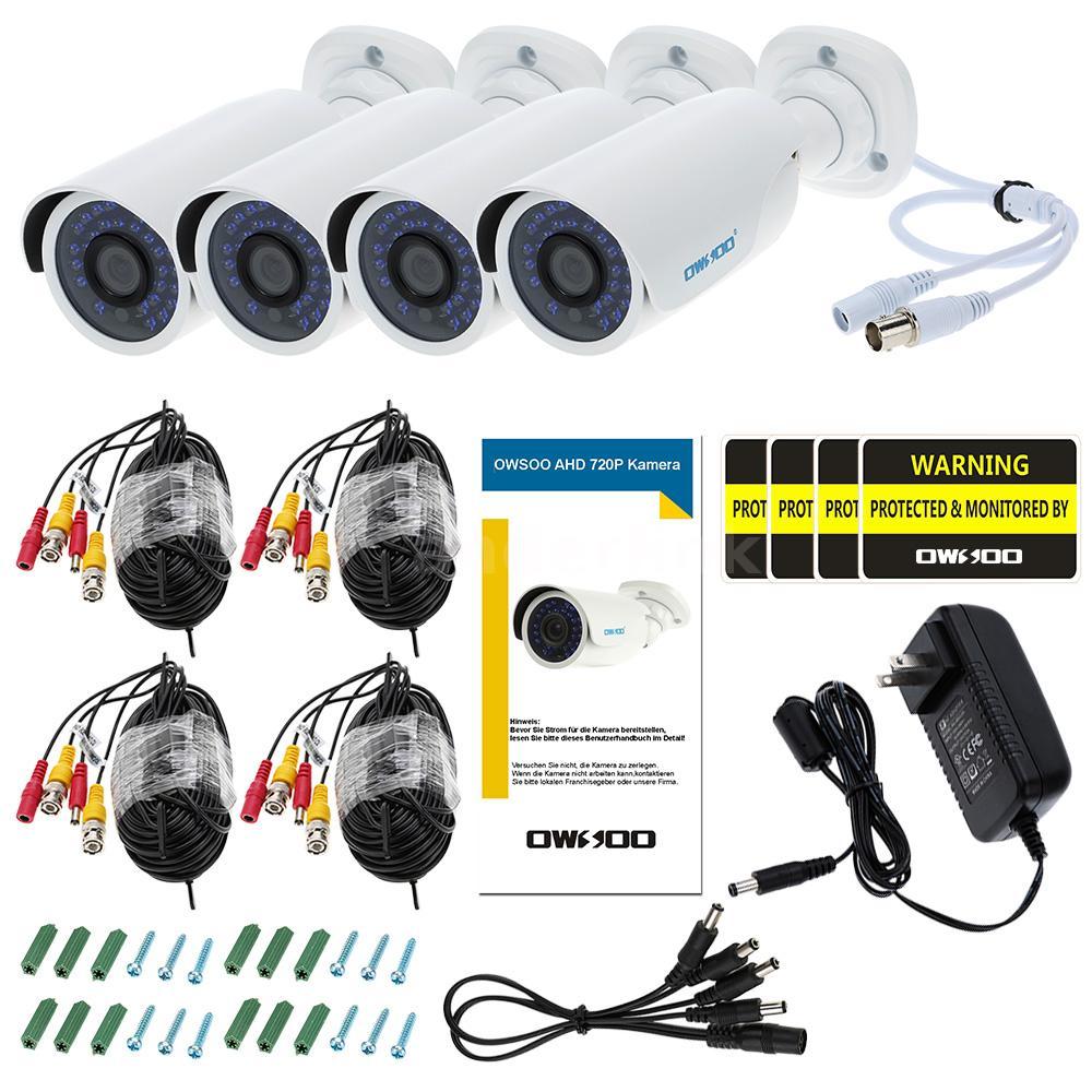 Owsoo 720p 1500tvl Ahd Security Outdoor Cctv Camera System