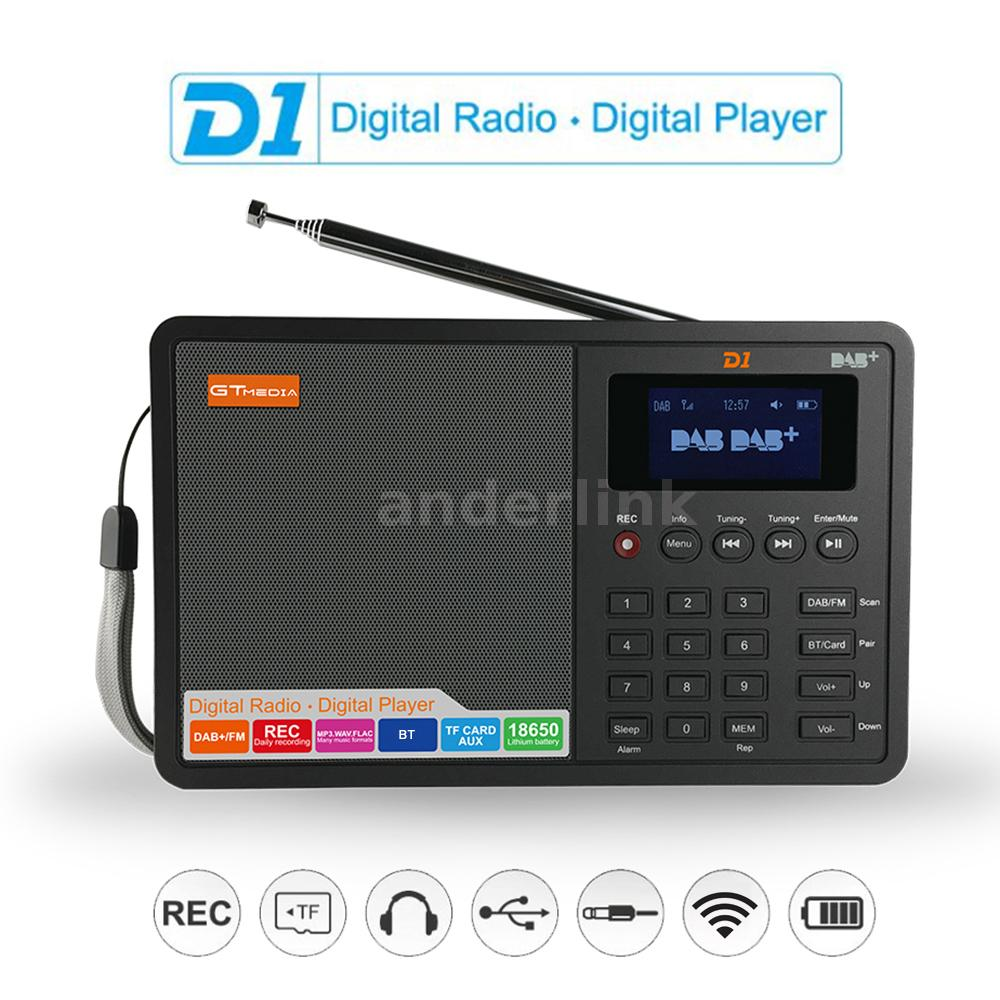 Portable DAB FM Radio RDS TF Pocket Digital Receiver Music With Earphone A1F4
