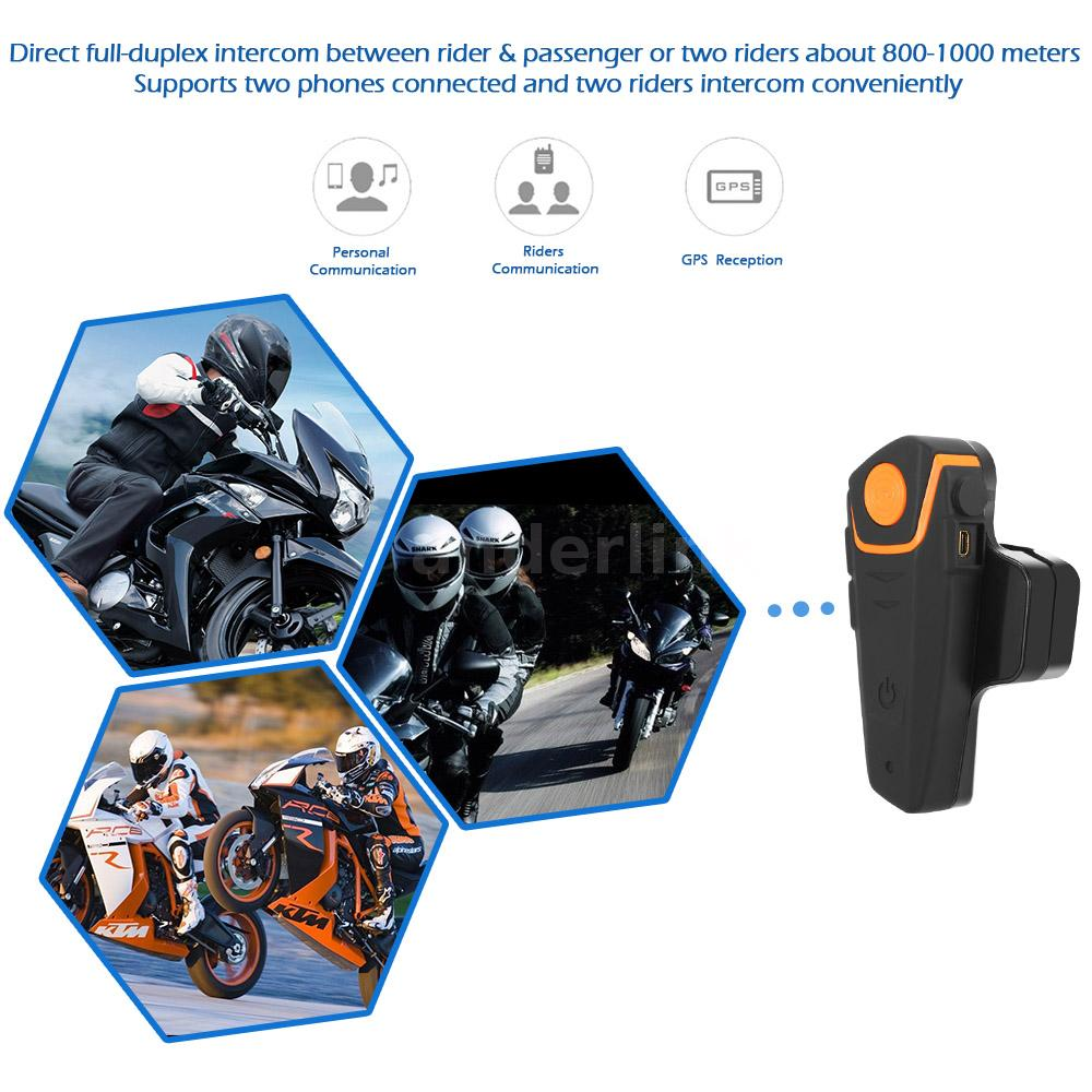 1000m bt bluetooth interphone motorcycle helmet intercom headset fm radio e5h7 ebay. Black Bedroom Furniture Sets. Home Design Ideas