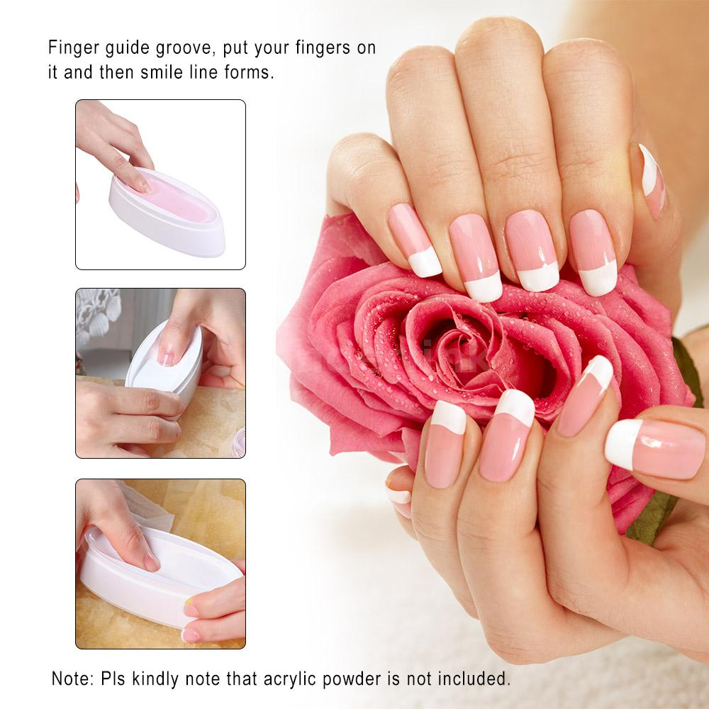 Entity French Dip Nail Container Nail Tip Guide Nail Art Tool ...