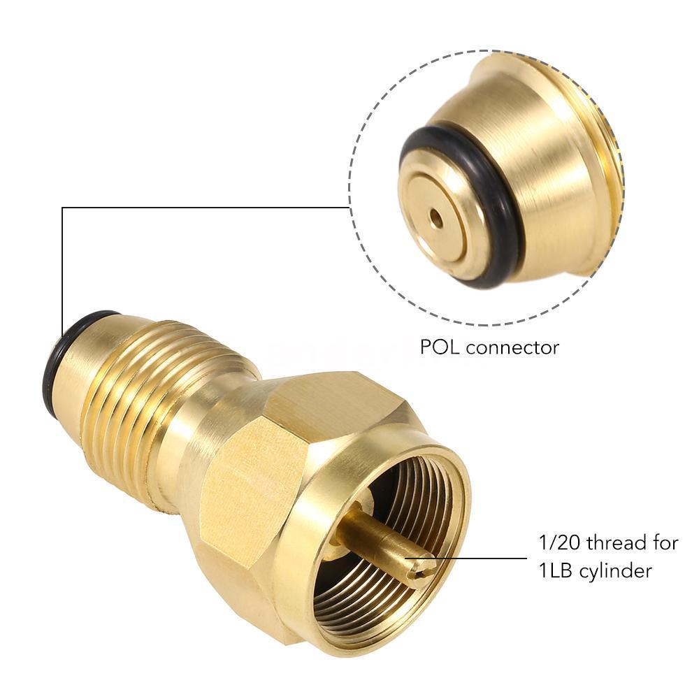 2PCS Solid Brass Universal Safest QCC1 /& POL Propane Refill Adapter F QQC1