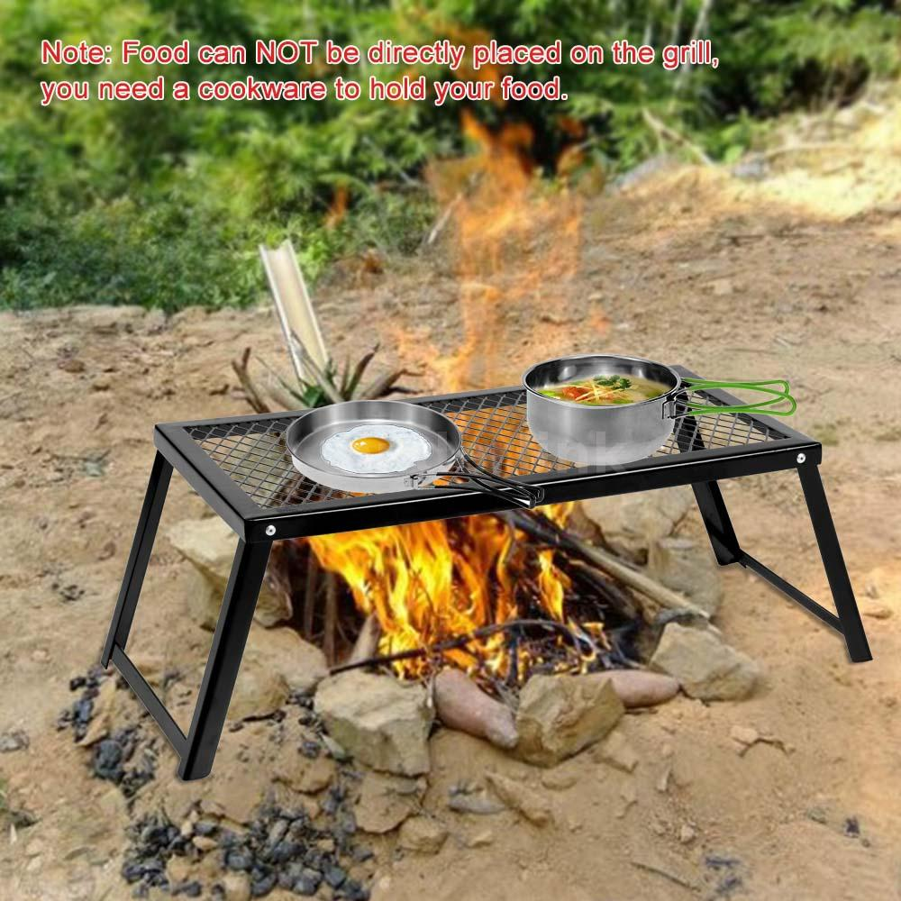 New foldable outdoor heavy duty over fire camping bbq for Modern barbecue grill
