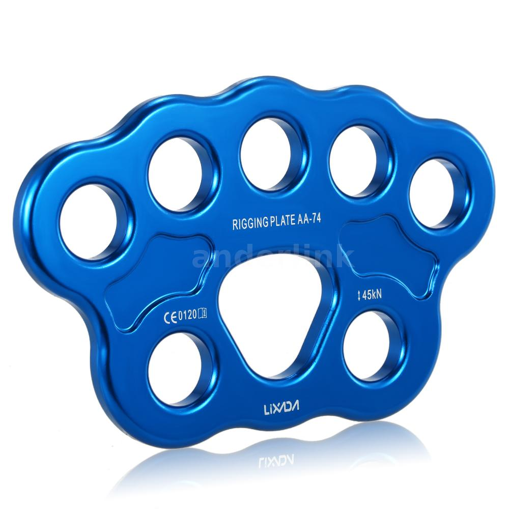 45KN 8-hole Paw Rigging Plate for Aerial Dance /& Rock Climbing Arborist Blue