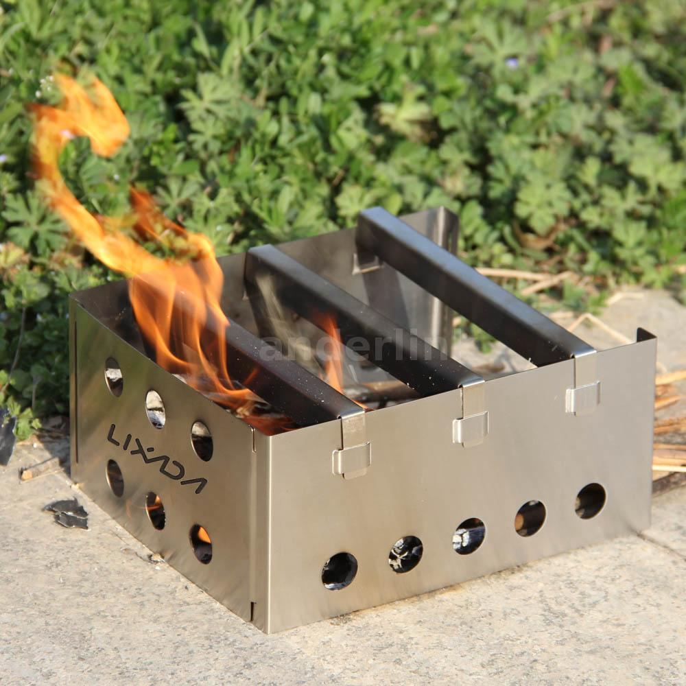 Outdoor Wood Stove Backpacking Survival Wood Burning ...