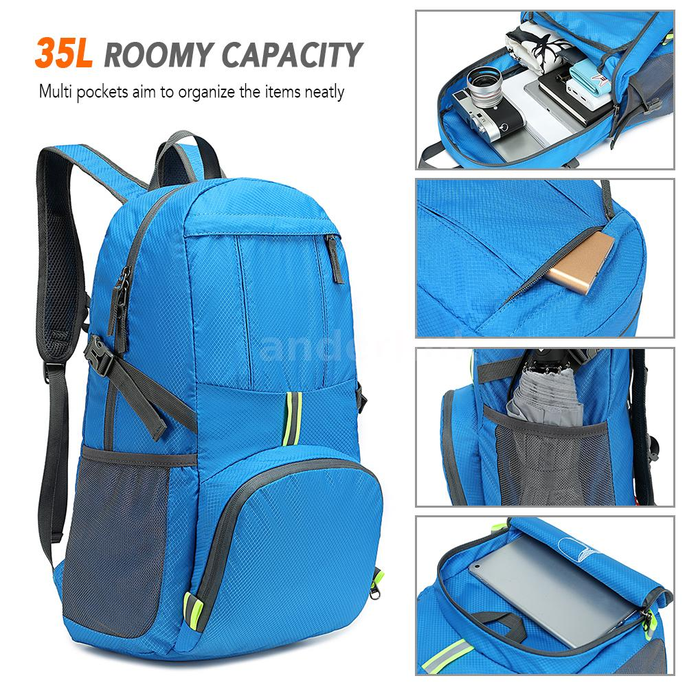 80L Outdoor Camping Backpack Hiking Climbing Nylon Bag Superlight Sport P2R2