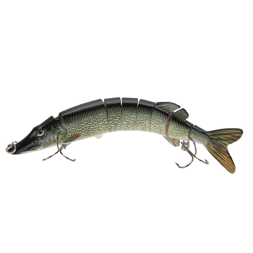 8 20cm pike muskie fishing lure swimbait crankbait hard for Musky fishing reels