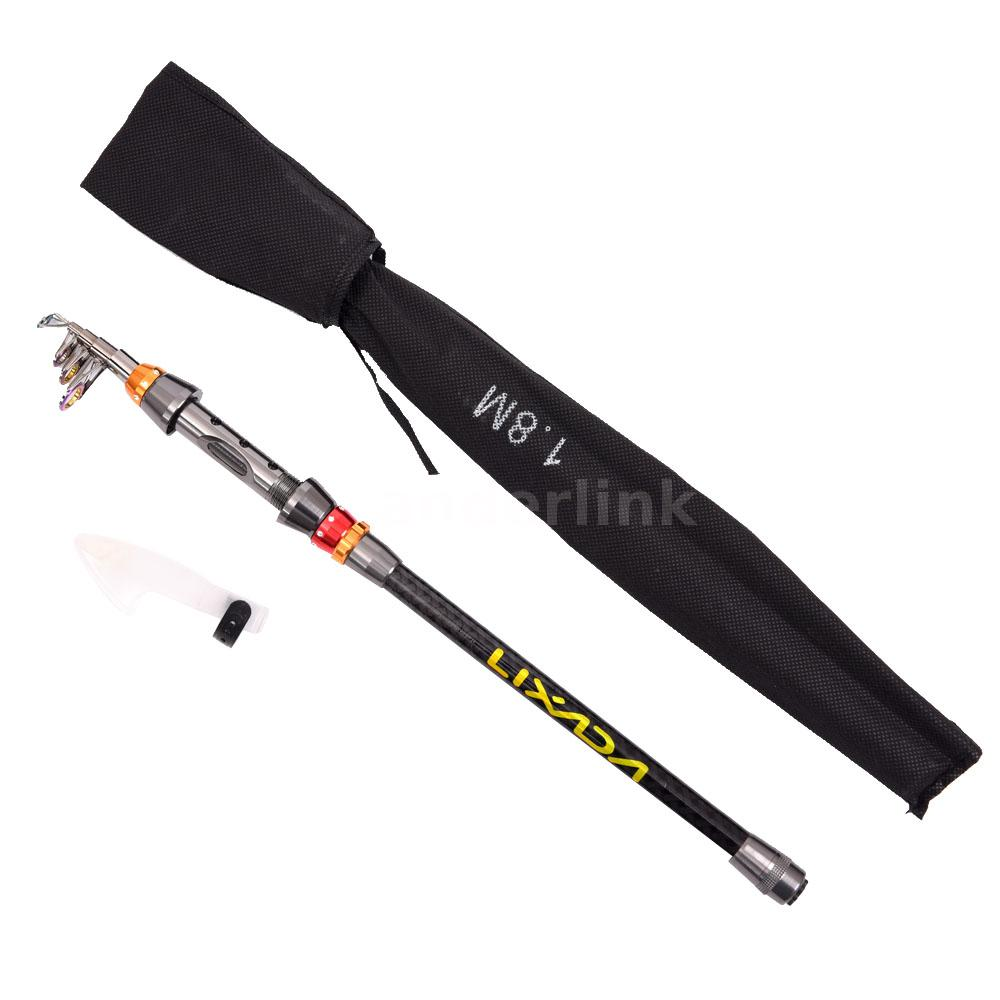 Telescopic carbon fiber fishing rod spinning travel sea for Carbon fiber fishing rod