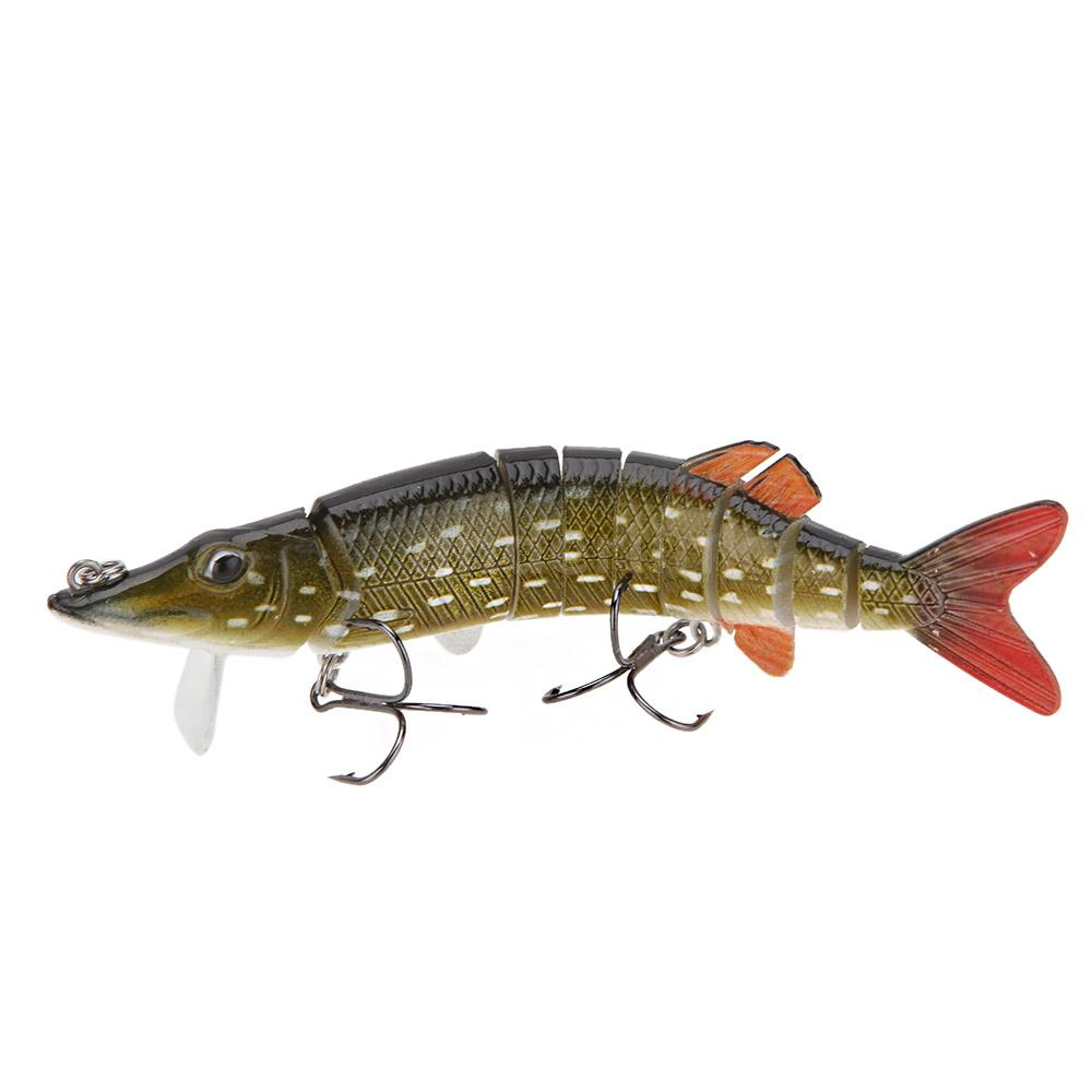 5 lifelike pike muskie fishing lure swimbait for Fishing lure with camera