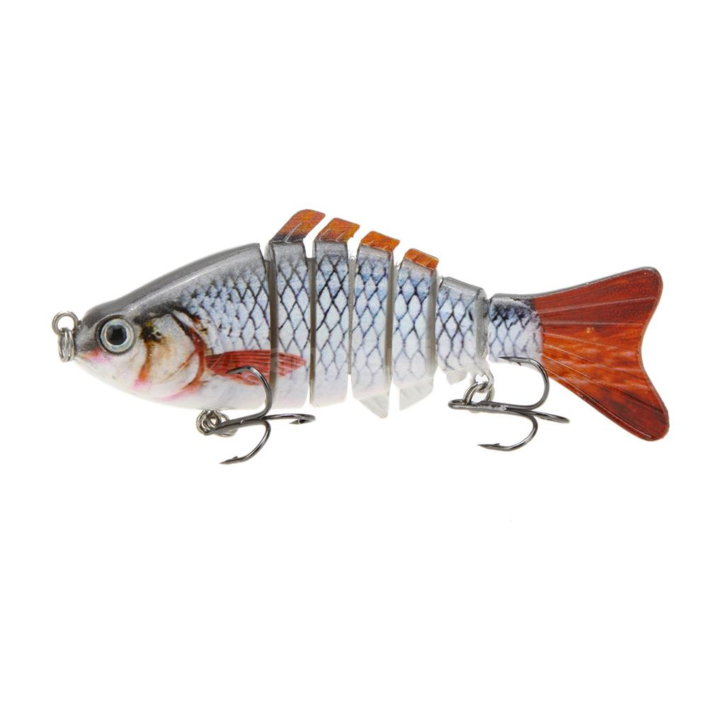 10cm 4 multi jointed fishing lure lifelike hard for Fishing lure with camera